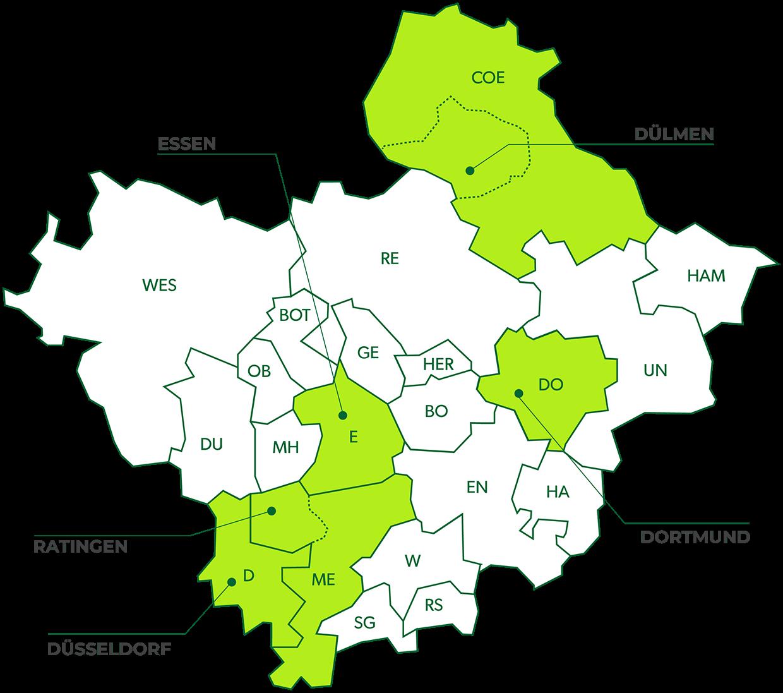 Essen Nord Karte