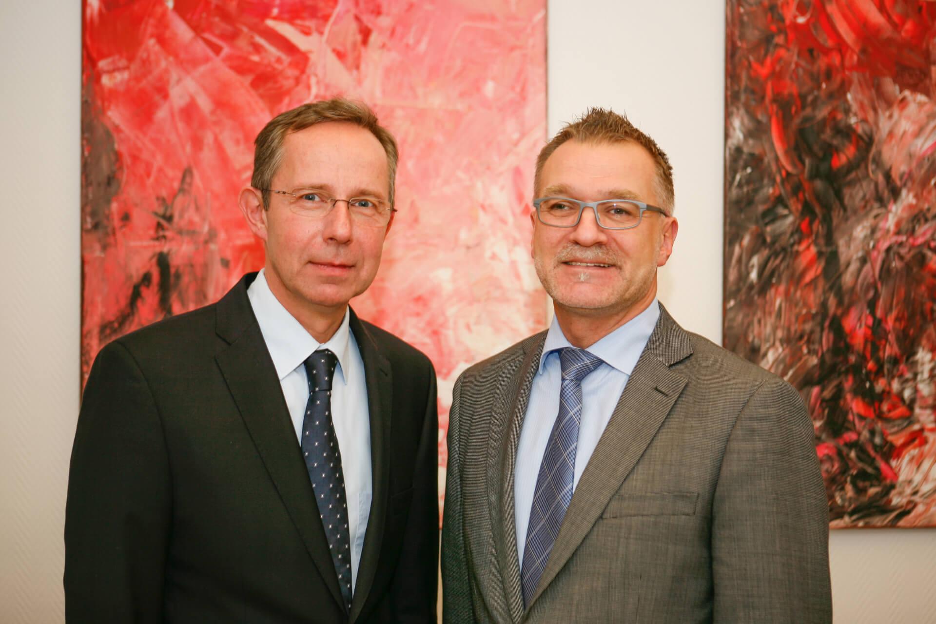 Andreas Dargegen und Michael Malik