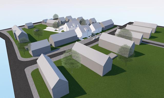 Nöggerathstraße Vogelperspektive 3D