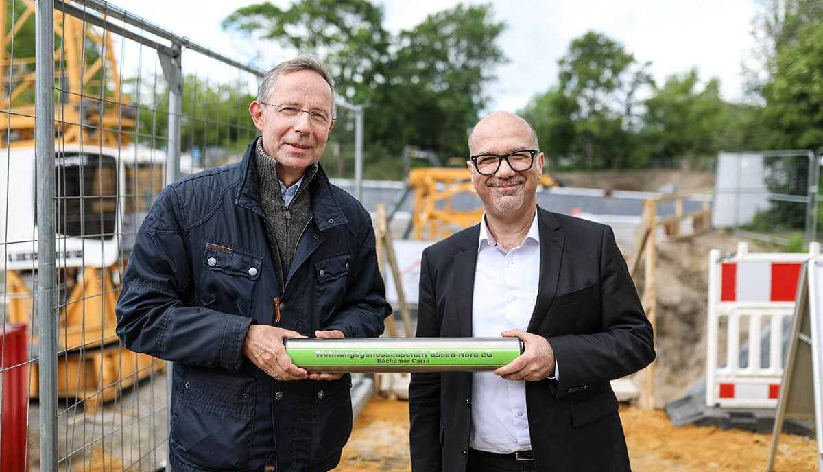 """Grundsteinlegung am Neubauprojekt """"Bechemer Carré"""""""